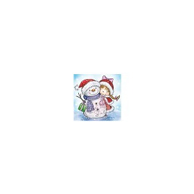 Wild Rose Studio`s A7 stamp set Girl and Snowman