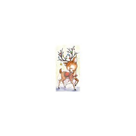 Wild Rose Studio`s A7 stamp set Reindeer with Baubles