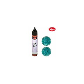 Viva Decor Glitter Perlen Pen 25ml -Glitter T�rkis