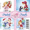 Wild Rose Studio`s Printed panels Christmas Girl a 12 VL CP017