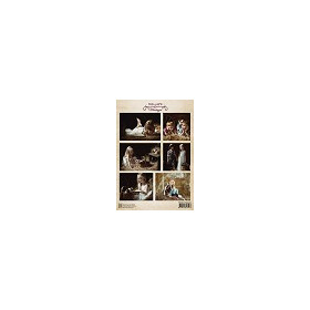 Decoupage sheet vintage cats