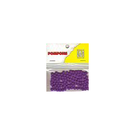 Nellie's Choice  Mini pompoms purper 100 ST 3mm POM010