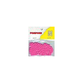 Nellie's Choice  Mini pompoms neon roze 100 ST 3mm POM012