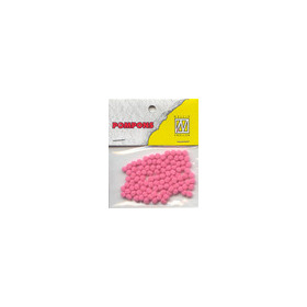 Nellie's Choice  Mini pompoms bloesem roze 100 ST 3mm POM021