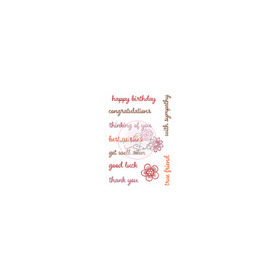 Wild Rose Studio's A7 stamp set Everyday Sentiments CL454