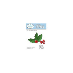 Elizabeth Craft Design Die Holly Leaves & Berries 926
