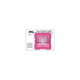 Crealies Crea-nest-dies small no. 7 Kiekeboe ornament vierkan CNLS07 / 6,5x6,5 cm