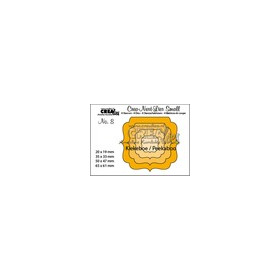 Crealies Crea-nest-dies small no. 8 Kiekeboe ornament vierkan CNLS08 / 6,5x6,1 cm