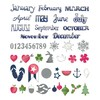 Sizzix Thinlits Die Set 54PK - Calendar Months 660104 Me & You by Sizzix Designer
