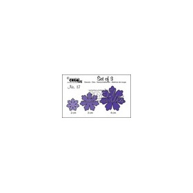 Crealies Set of 3 no. 17 bloemen 11 CLSET17 / 2, 3, 4 cm