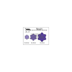 Crealies Set of 3 no. 21 Bloemen 12  CLSET21 / 2, 3, 4 cm