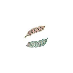 Sizzix Thinlits Die Set 2PK - Lattice Feathers 660501 Craft Asylum ( 5-15 )