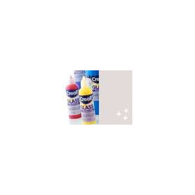 1 FL (1 FL) Glass - glasstickerverf glitterzilver 80 ML