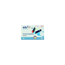 EDU� Jumbo Oil Pastel, 12cols, Card Box