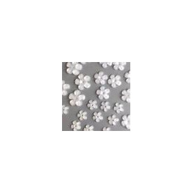 Bloemen resin -wit transparant  10mm - 16mm 12347-4701