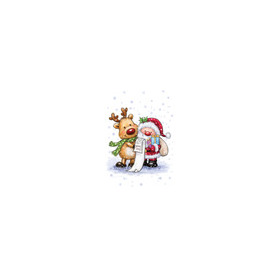 Wild Rose Studio`s A7 stamp set Santa and Rudolph CL457