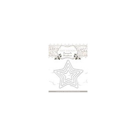Die - Amy Design - Brocante Christmas - Mini Star Frames