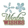 Sizzix Thinlits Die Set 2PK - Phrase, Winter Wishes&Snowflake 660663 Winter Wishes  (09-15)
