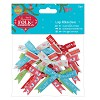 Large Ribbon Bows (12pcs) - Folk Christmas