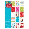 A4 Double sided Paper Pack Linen (32pk) - Folk Christmas