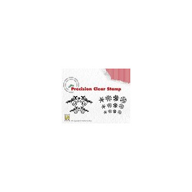 Nellie`s Choice Precision clear stamp - Christmas flowerswirls - snowflakes APST017
