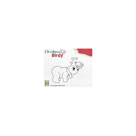 Stempel Christmas Birdie BC003 I love you