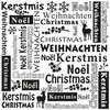 Multi Language Text Embossing Folders - Christmas