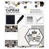 Gift Tags & Stamps Set (16pcs) - Capsule - Geometric Mono