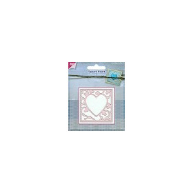 Joy Crafts Cutting - embossing Stencil 6002-0445 Square Heart
