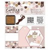 Gift Tags & Stamps Set (16pcs) - Capsule - Geometric Mocha