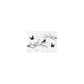 Embossing Folder - Christmas scene with birds 160x150mm