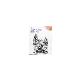 Clear Stamps - Winter Time - Winter waterfall