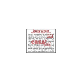 Crealies Clearstamp Backgroundzz 02 Curly handwrinting 95x135mm / CLBG02