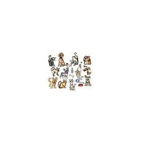 Sizzix Thinlits Die Set - Mini crazy cats & dogs 661594 Tim Holtz (09-16)