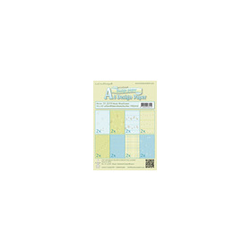 Design papier assortiment Music blue /green 16 sheets A5 170 gr.