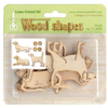 Wood shapes Dogs