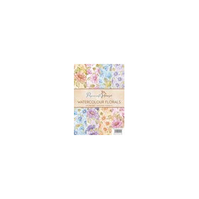 Wild Rose Studio's A4 Paper Pack Watercolour florals a 40 VL PH001 (01-17)