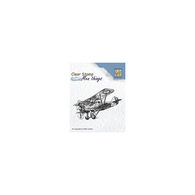 Clear stamps men things  aeroplane
