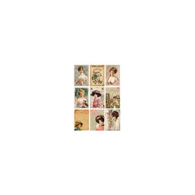 KP0045 Vintage Toppers A4 Cutouts Women & Flowers