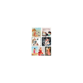 KP0047 Vintage Toppers A4 Cutouts Retro Ladies