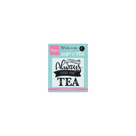Marianne D Stempel Quote - There is always time for tea (EN) KJ1707 9,0x11,0cm (04-17)