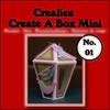 Crealies Create A Box Mini no. 01 Lantaarn 52x141mm / CCABM01 (04-17)