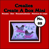 Crealies Create A Box Mini no. 03 Kussendoosje 87x138mm / CCABM03 (04-17)