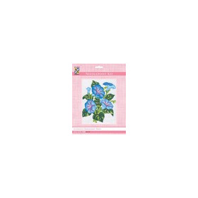 3038K - Eurocraft NEEDLEPOINT KIT 14x18cm Morning Glory