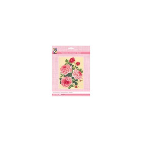 3118K - Eurocraft NEEDLEPOINT KIT 14x18cm Roses and Rose Buds