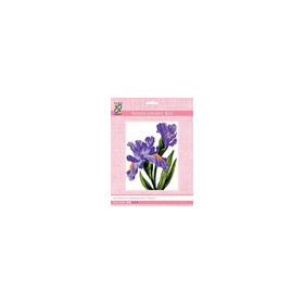 3286K - Eurocraft NEEDLEPOINT KIT 14x18cm Irises