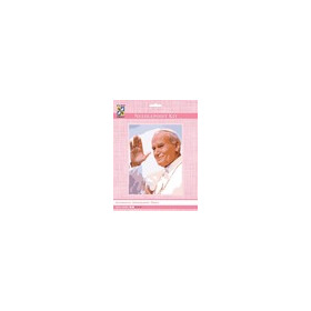 3300K - Eurocraft NEEDLEPOINT KIT 14x18cm Pope John Paul II