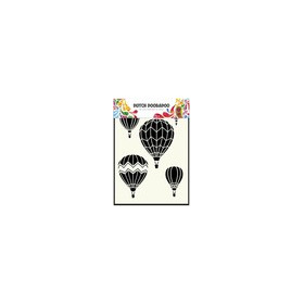 Dutch Doobadoo Dutch Mask Art stencil Luchtballonnen multi A5 470.715.106 (06-17)