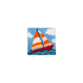 Latch Hook 30x30cm Sailing Boat
