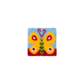 Latch Hook 30x30cm Pretty Butterfly